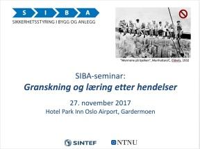 SIBA-seminar 27-11-17